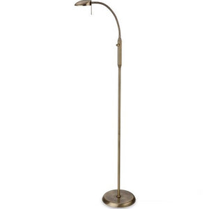 Antique Brass Milan LED Floor Lamp