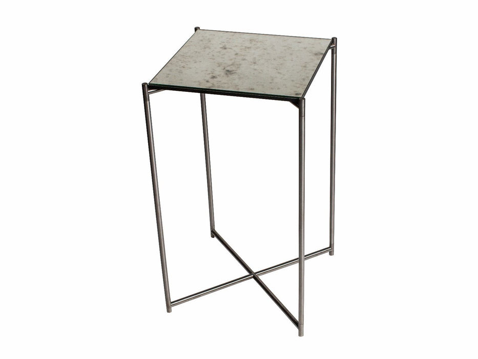Antiqued Glass Gillmore Square Plant Stand
