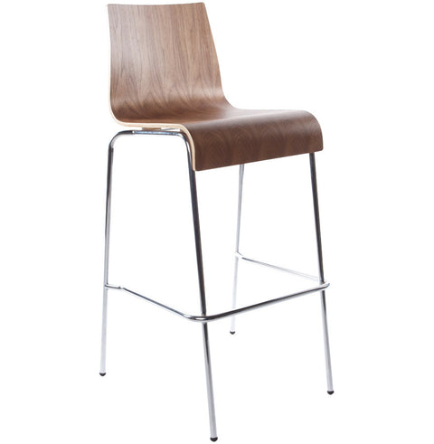 Walnut Modern Kokoon Cobe Bar Stool BS00230WA
