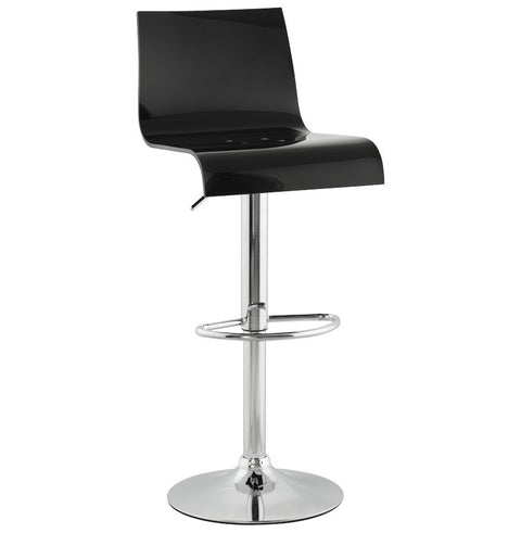 Black Modern Kokoon Plexi Bar Stool BS00340BL