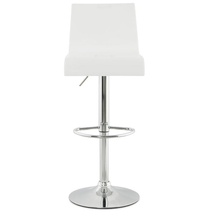 White Modern Kokoon Plexi Bar Stool BS00380WH
