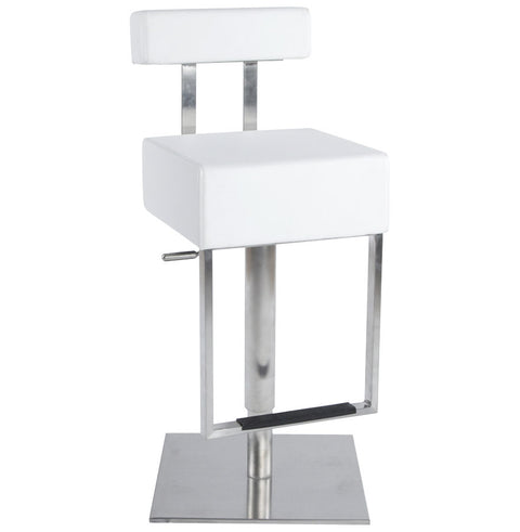 White Designer Kokoon Cubo Bar Stool BS00430WH