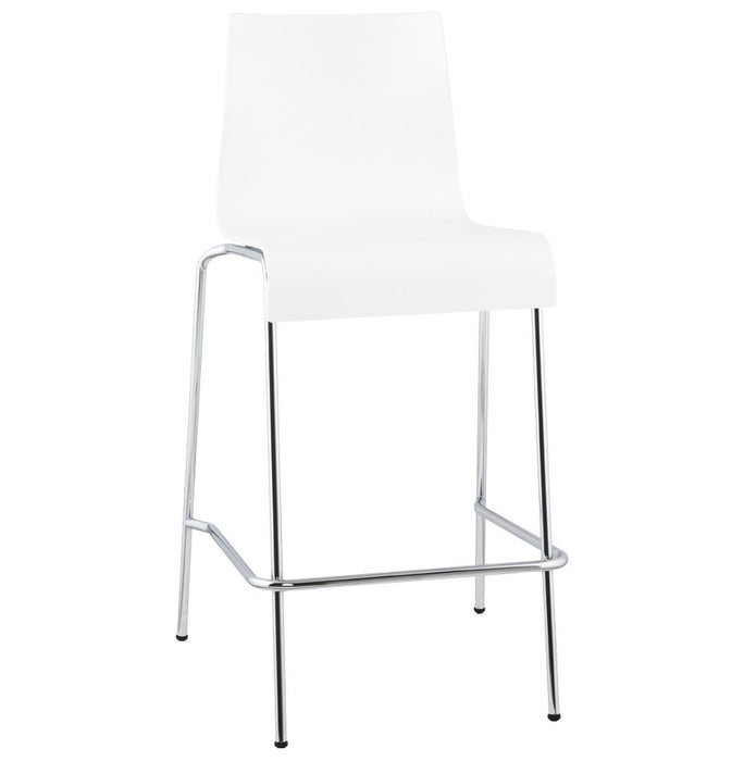 White Modern Kokoon Cobe Folding Bar Stool BS00690WH