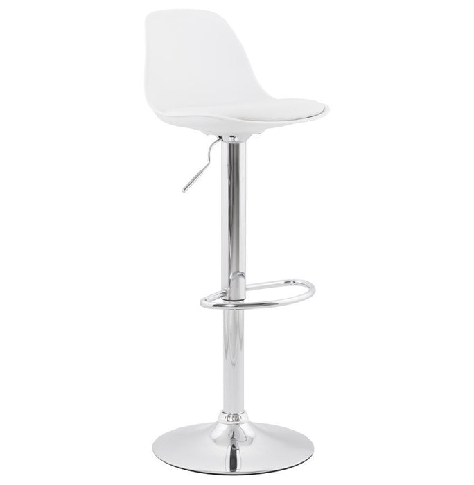 White Modern Bar Stool