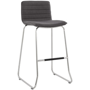 Dark Grey Modern Kokoon Denim Bar Stool BS00900DG