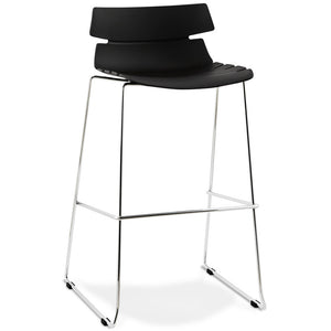 Black Designer Kokoon Reny Kitchen Bar Stool
