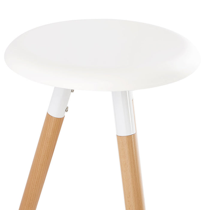 White Modern Kokoon Jon Bar Stool BS01270WH