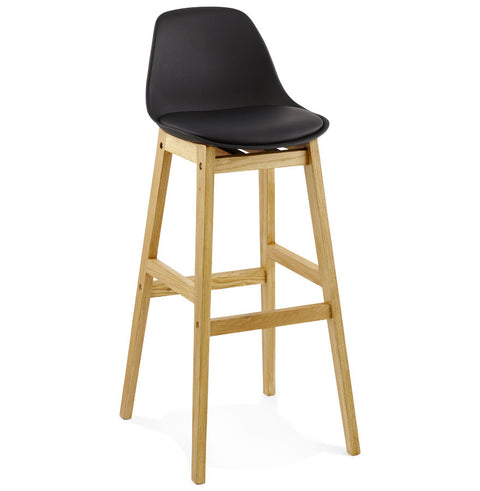 Black Modern Kokoon Elody Kitchen Bar Stool BS01290BLBL