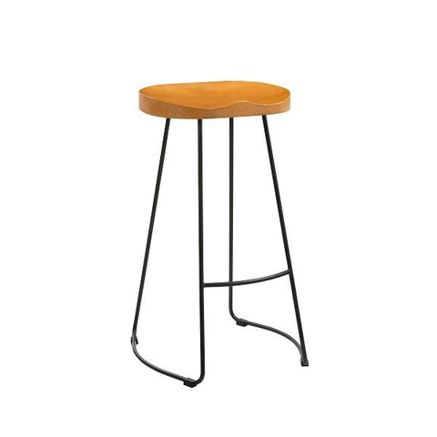 Bailey Pine Wood Seat With Black Metal Leg Bar Stool (1 Per Pack )