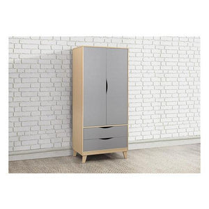 Beech & Grey Birlea Kingston 2 Drawer Wardrobe