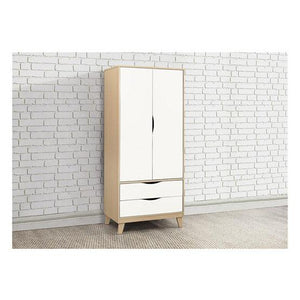 Beech & White Birlea Kingston 2 Drawer Wardrobe