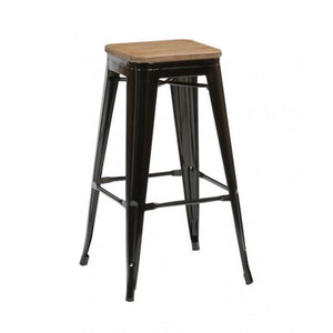 Black Birlea Downtown Bar Stools (Sold in Pairs)