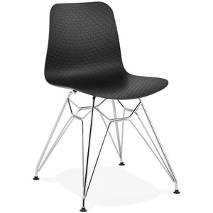 Black & Chrome Modern Fifi Dining Chair
