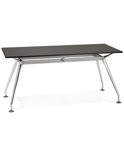 Black & Chrome Vintage Krush 160 Office Desk