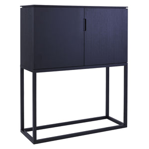 Black Gillmore Large Tall Sideboard