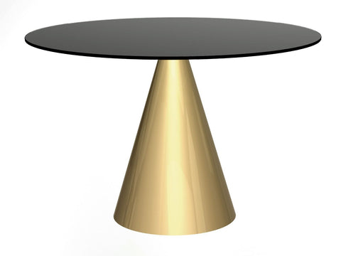 Black Glass Round Dining Table