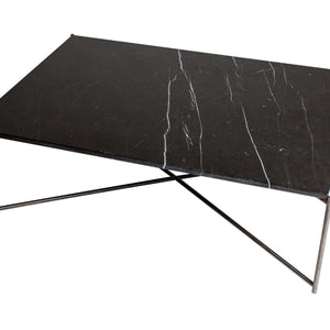 Black & Gun Metal Gillmore Rectangle Coffee Table