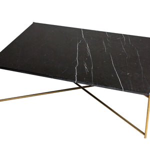 Black Marble Gillmore Rectangle Coffee Table