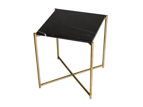 Black Marble Gillmore Square Side Table