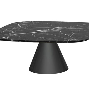 Black Marble Square Coffee Table