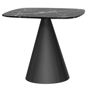 Black Marble Square Dining Table