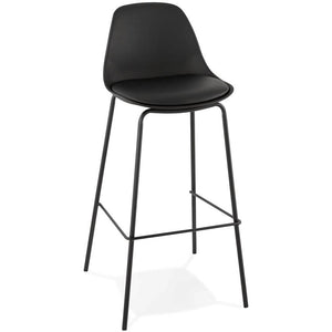 Black Modern Escal Bar Stool