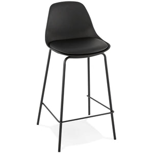 Black Modern Escal Mini Bar Stool