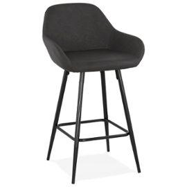 Black Modern Klap Mini Bar Stool