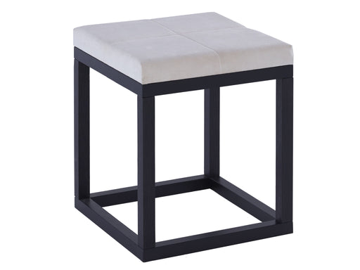 Black & Off White Gillmore Small Stool