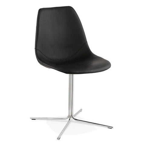 Black & Chrome Design Chair CH01580BLCH