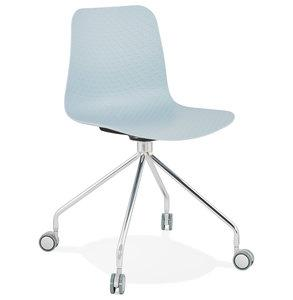 Blue Modern Rulle Office Chair