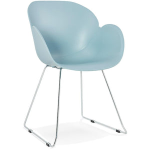 Blue Retro Testa Armchair