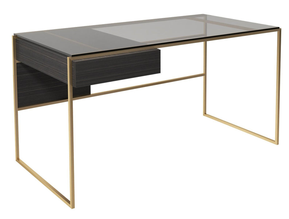 Brass Brushed Black Desk