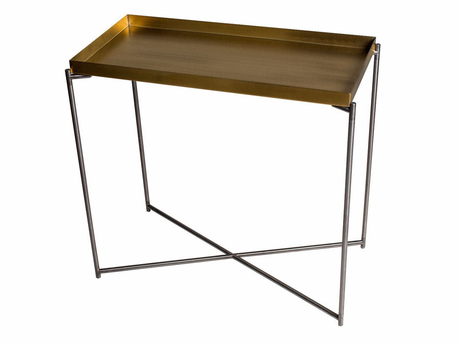 Brass Brushed Gillmore Small Console Table