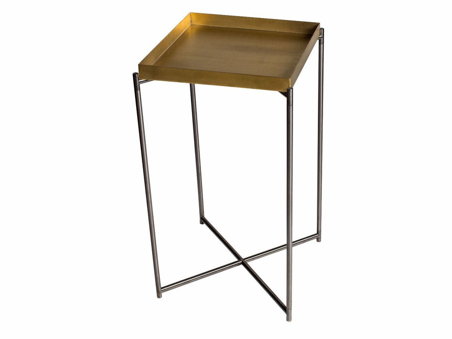Brass Brushed Gillmore Square Plant Stand