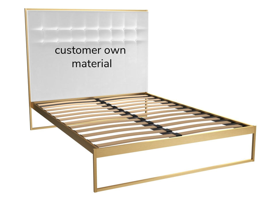 Brass Brushed King Bed Frame with Headboard