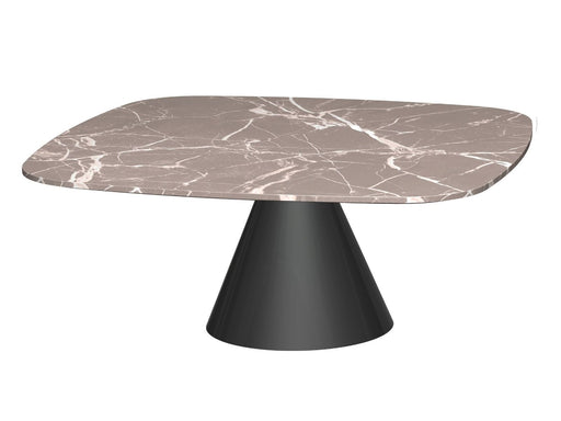 Brown Marble Square Coffee Table