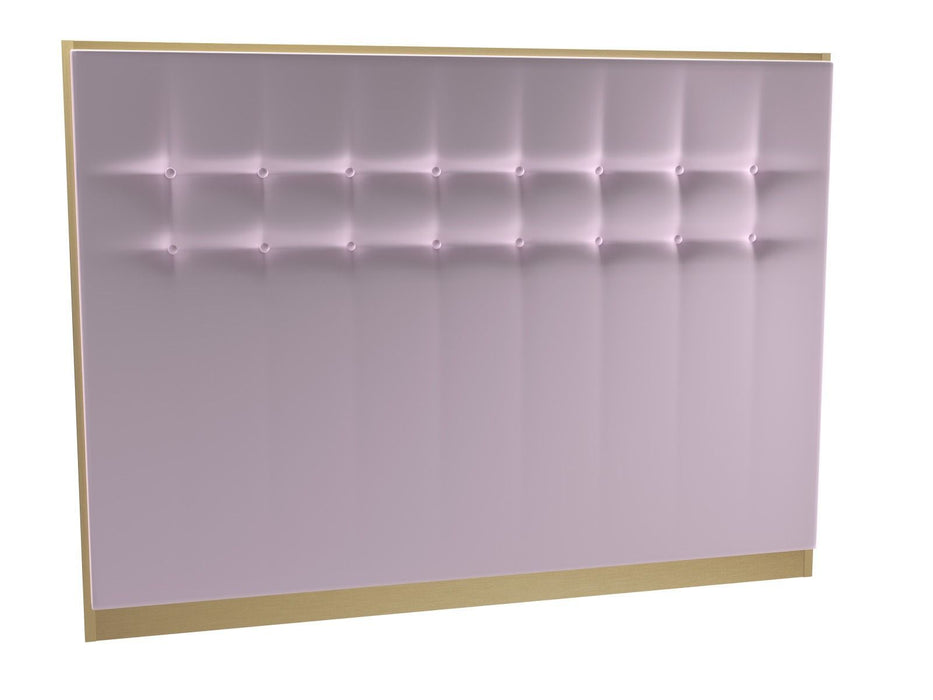 Brushed Brass Double Pink Headboard