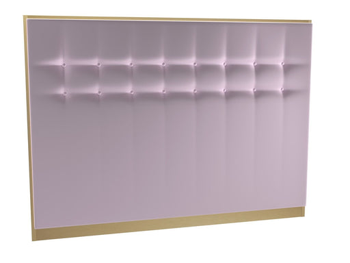Brushed Brass King Size Pink Headboard