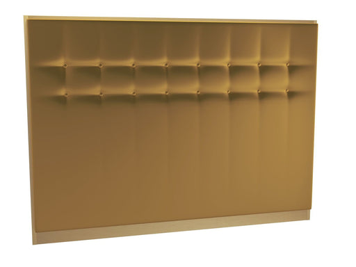 Brushed Brass King Size Yellow Headboard