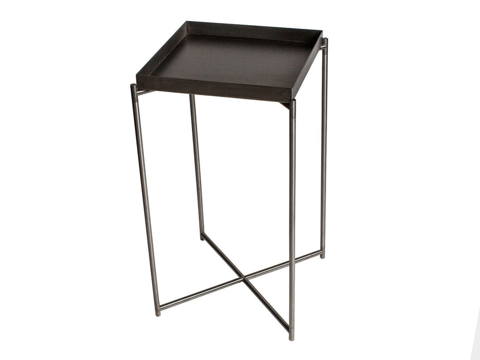 Brushed Gun Metal Square Plant Stand