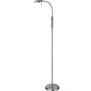 Brushed Steel Milan LED Floor Lamp