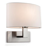 Brushed Steel Webster Single Wall Light