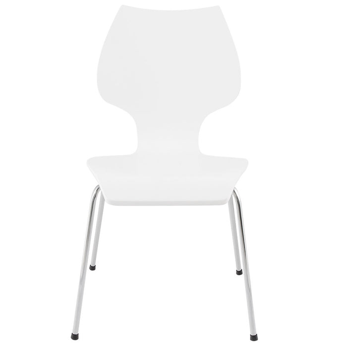 White Modern Kokoon Elipse Dining Room Chair