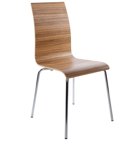 Wooden Zebrano Kokoon Dining Room Chair