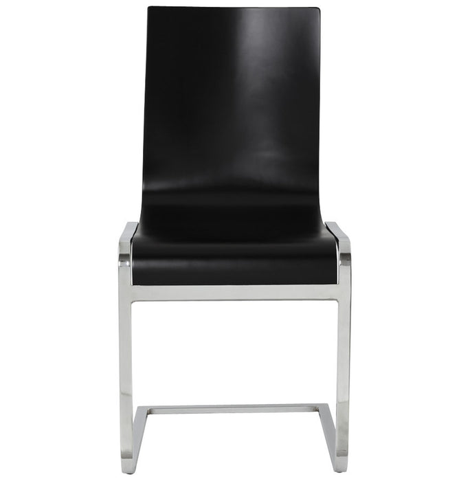 Black Retro Kokoon Soft Dining Room Chair