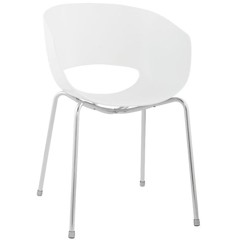 White Retro Kokoon Napoli Dining Room Chair
