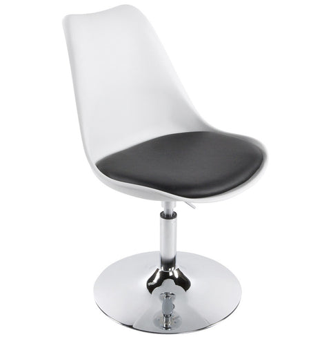 White and Black Retro Kokoon Victoria Chair CH00230WHBL