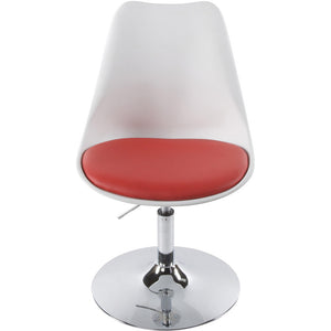 White and Red Retro Kokoon Victoria Dining Room Chair