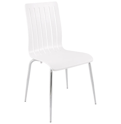 White Modern Kokoon Stricto Dining Room Chair